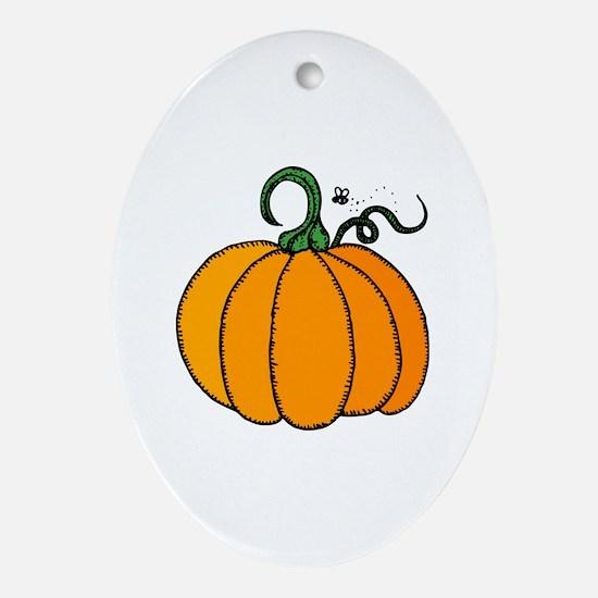 Cute Pumpkin Oval Ornament