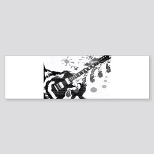 Splatter Guitar Bumper Sticker
