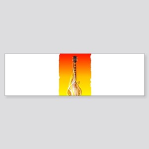 Burning Solid Electric Guitar Bumper Sticker