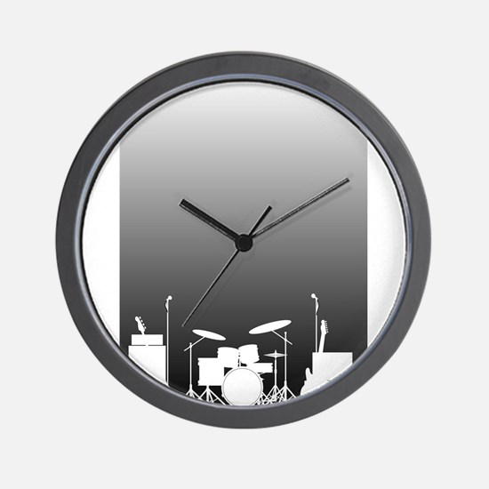Live Band Poster Wall Clock