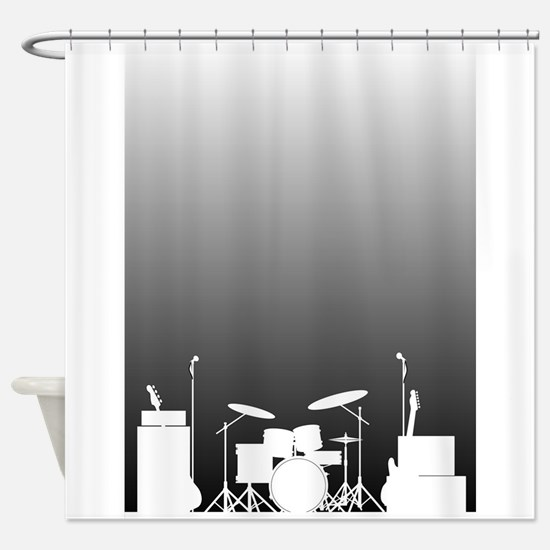 Live Band Poster Shower Curtain