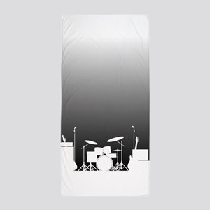 Live Band Poster Beach Towel