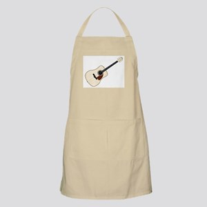 Pale Acoustic Guitar Apron