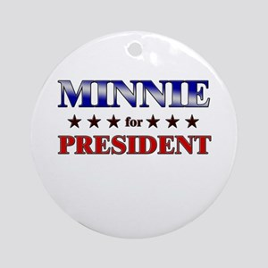 MINNIE for president Ornament (Round)