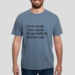 Wine, Naps, Netflix, Cats T-Shirt