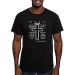 Grace (Ephesians 2:8) Men's Fitted T-Shirt (dark)