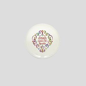 Opera Sparkles Mini Button