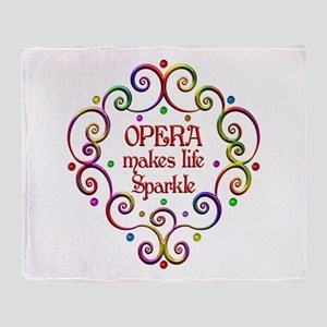Opera Sparkles Throw Blanket