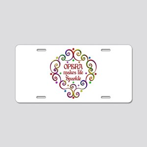 Opera Sparkles Aluminum License Plate