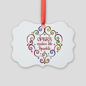 Opera Sparkles Picture Ornament