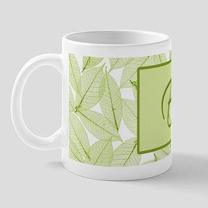 Leaves Monogram E Mug