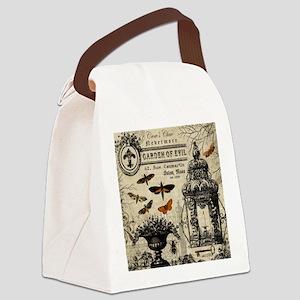 Modern vintage Halloween garden Canvas Lunch Bag