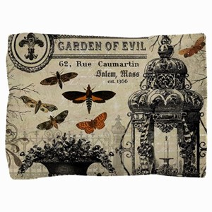 Modern vintage Halloween garden Pillow Sham