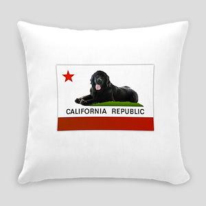 California Newfie Flag Everyday Pillow