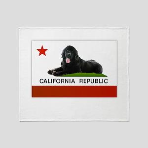California Newfie Flag Throw Blanket