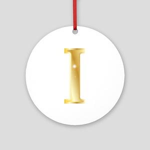 Iota Round Ornament