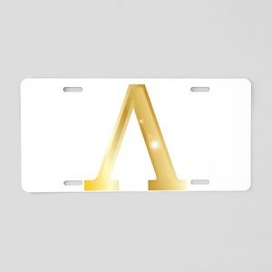 Lambda Aluminum License Plate
