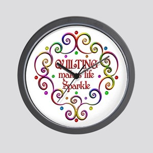 Quilting Sparkles Wall Clock