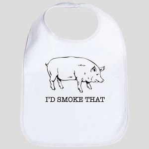 I'd Smoke That Funny Pig Bib