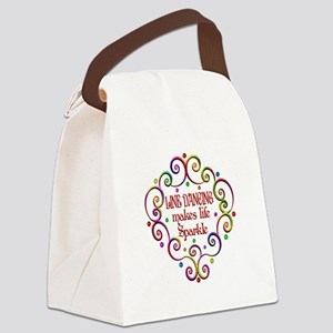 Line Dancing Sparkles Canvas Lunch Bag