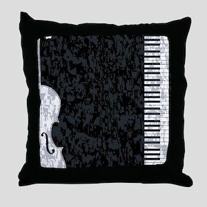 Piano and Violon Throw Pillow