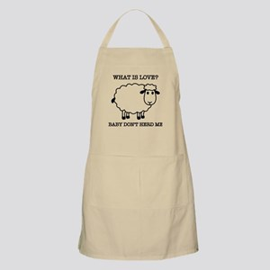 Baby Don't Herd Me Funny Sheep Apron