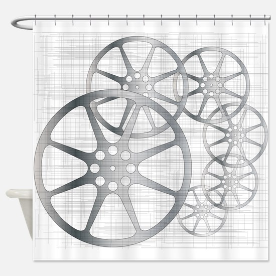 Movie Reel Grunge Shower Curtain