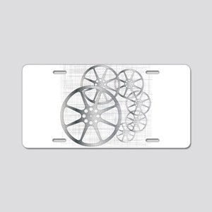 Movie Reel Grunge Aluminum License Plate