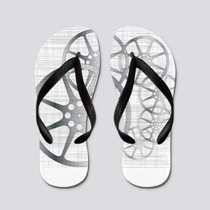 Movie Reel Grunge Flip Flops
