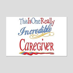 Incredible Caregiver Mini Poster Print
