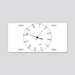 Time Aluminum License Plate