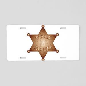 Texas Ranger Aluminum License Plate