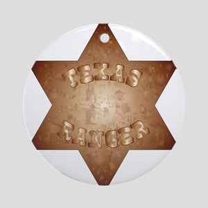 Texas Ranger Round Ornament