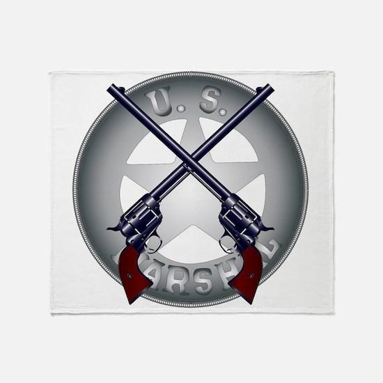 US Marshal Guns and Badge Throw Blanket