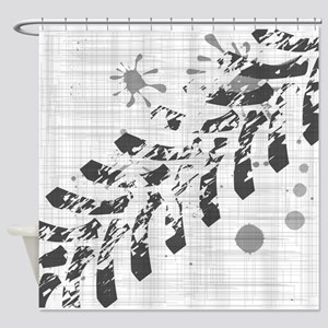 Grunge Tyre Marks Shower Curtain