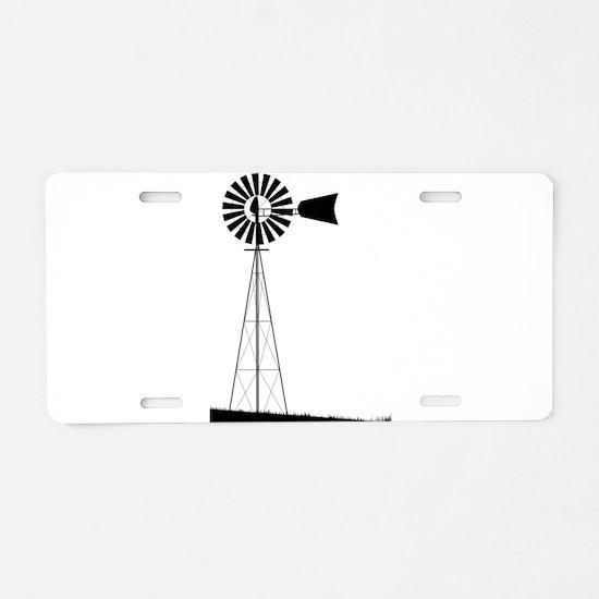 Windmill Aluminum License Plate