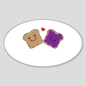 Peanut Butter and Jelly Best Friends Carto Sticker