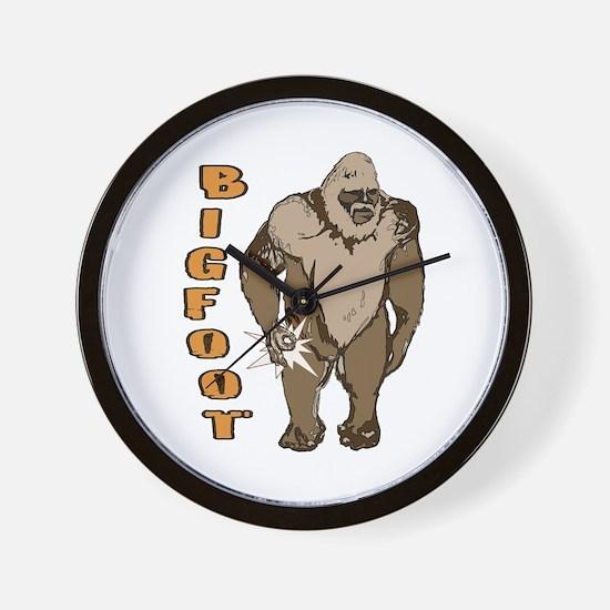 Bigfoot finger circle Wall Clock