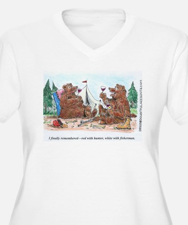 red with hunter wine toon.jpg Plus Size T-Shirt