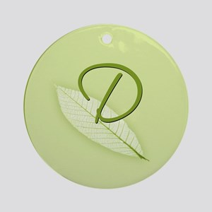 Leaves Monogram D Ornament (Round)