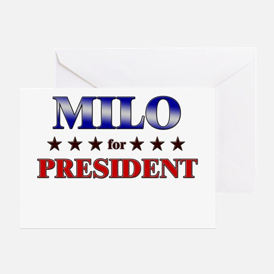 MILO for president Greeting Card
