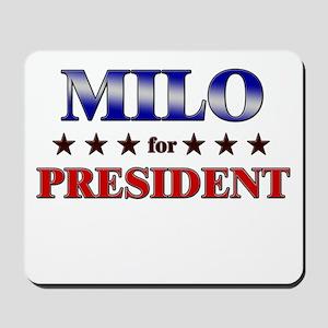 MILO for president Mousepad