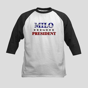 MILO for president Kids Baseball Jersey