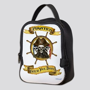 Pirates Watch Your Booty! Neoprene Lunch Bag