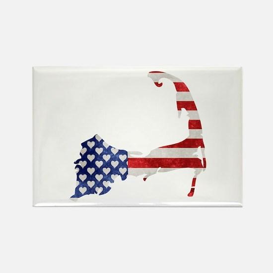 Cape Cod American Flag Magnets