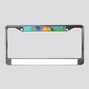 Underwater world- watercolor p License Plate Frame