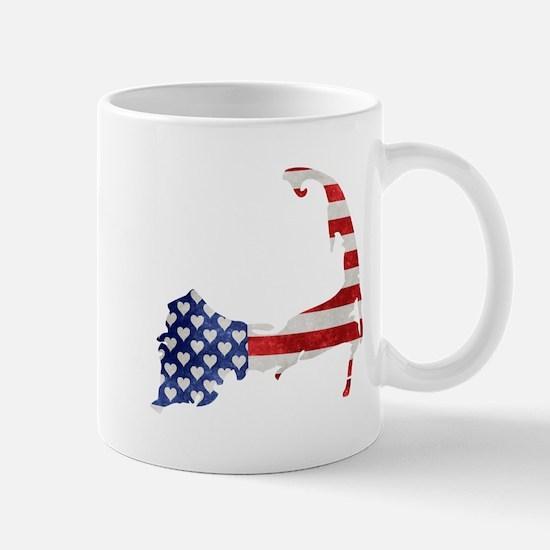 Cape Cod American Flag Mugs