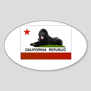 California Newfie Flag Sticker