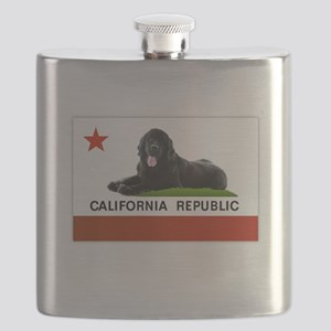 California Newfie Flag Flask
