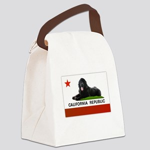 California Newfie Flag Canvas Lunch Bag